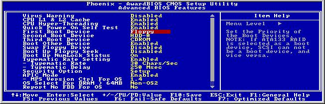E-2 Appendix E 6. Please set the first boot sequence as Floppy in BIOS and boot off the floppy disk. 7. Flash the BIOS in pure DOS mode. A:\>awdflash se6_sw.