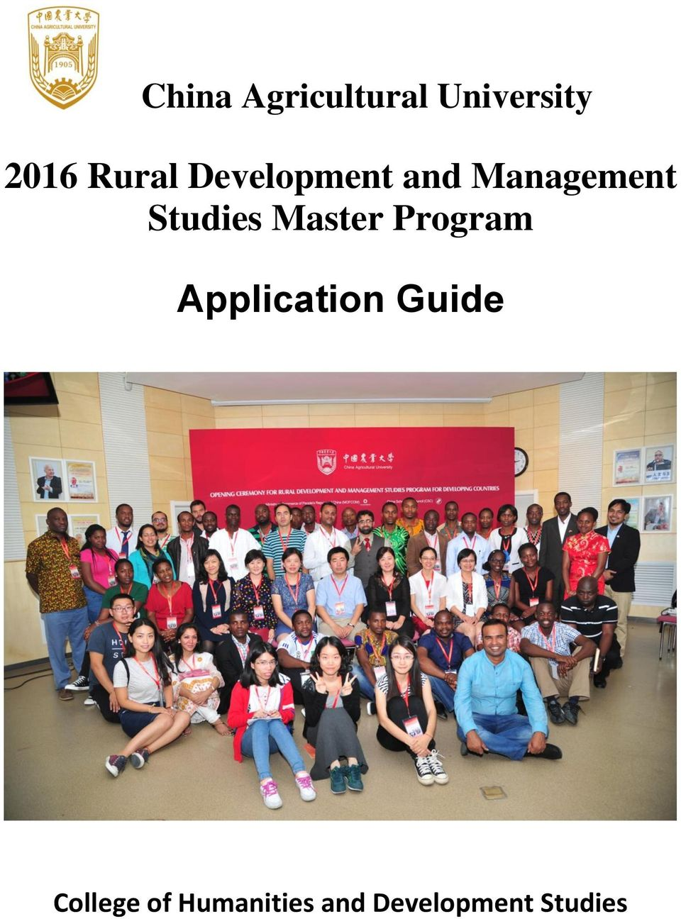 Studies Master Program Application