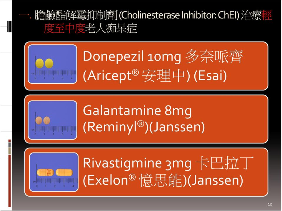 安 理 中 ) (Esai) Gl Galantamine 8mg (Reminyl )(Janssen)
