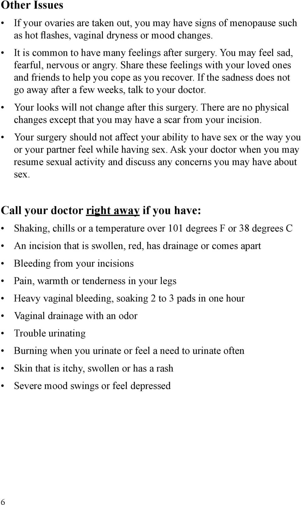Resume sex after hysterectomy