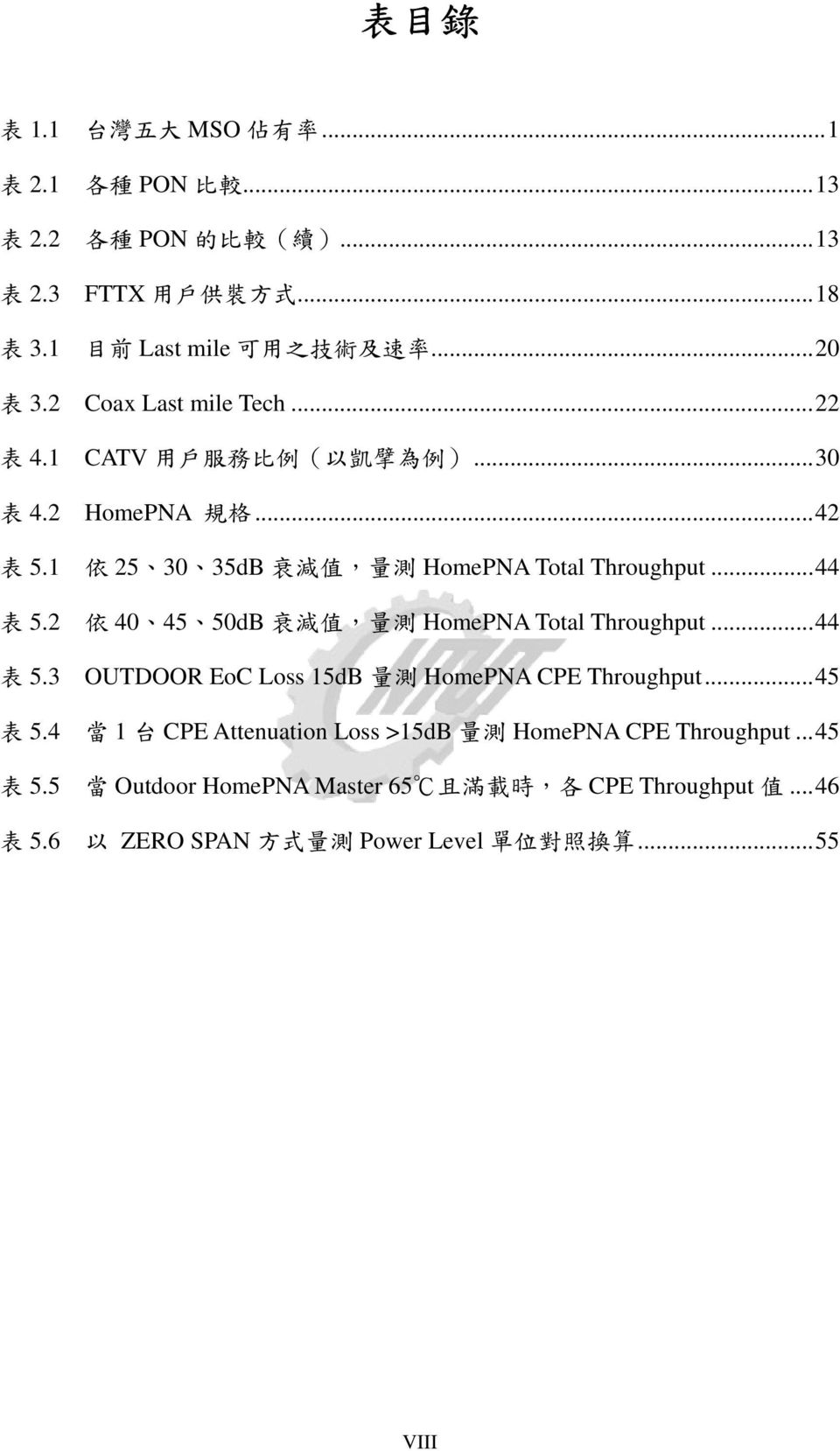 2 404550dB 量 HomePNA Total Throughput...44 5.3 OUTDOOR EoC Loss 15dB 量 HomePNA CPE Throughput...45 5.