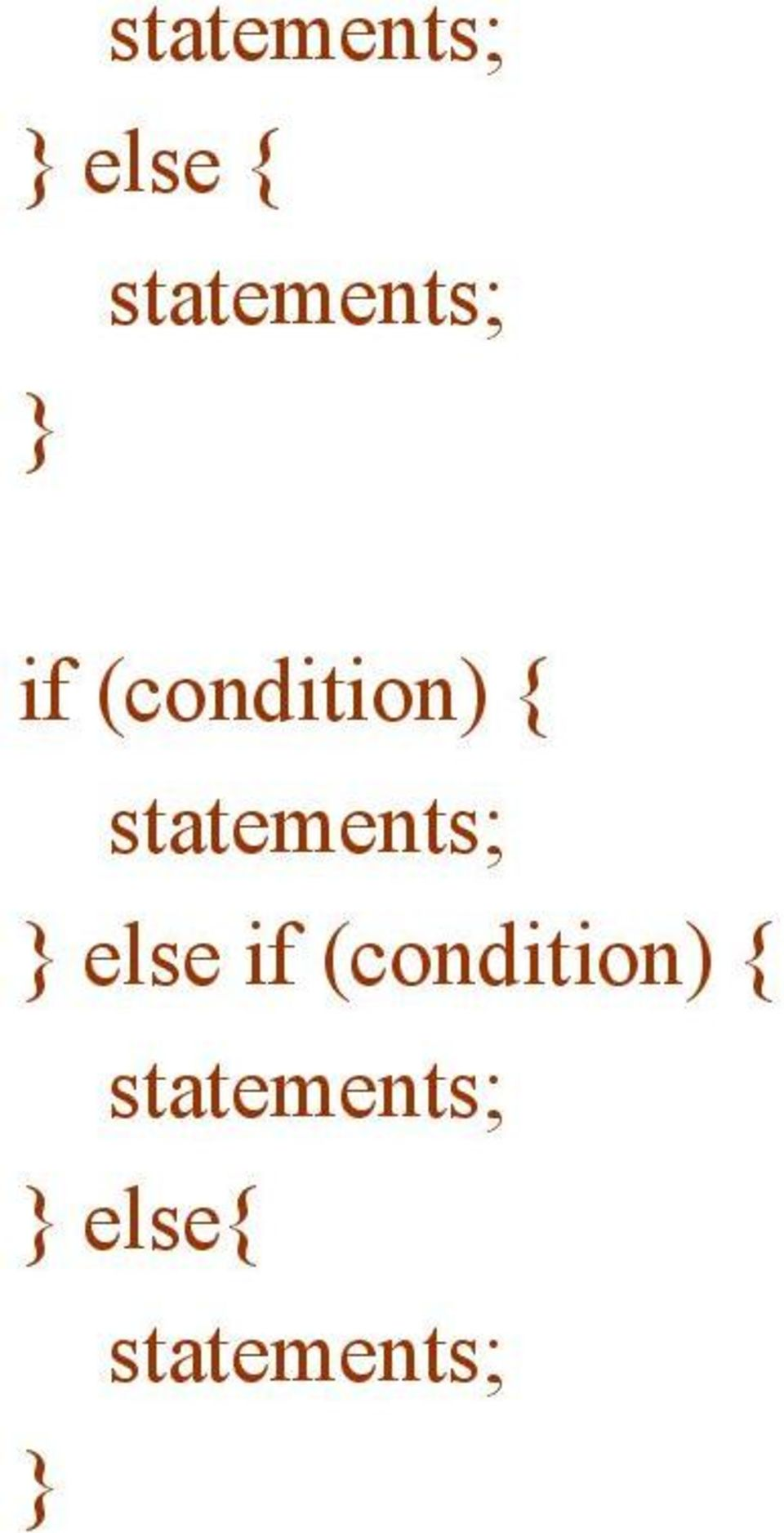 "5 for for for (initialization; condition; update) { for ""{"" """" 7."