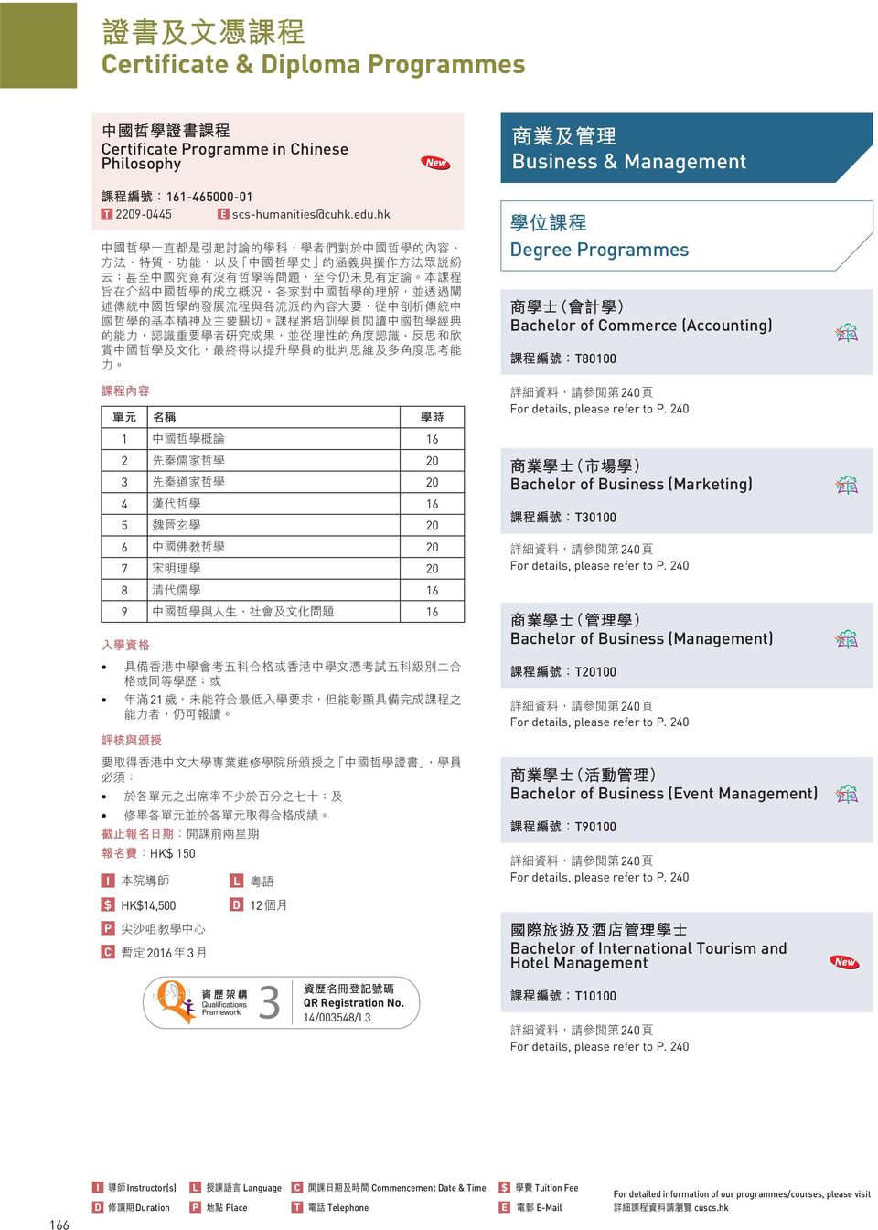 Business (Marketing) T0100 240 Bachelor of Business (Management) T20100 240 Bachelor of Business (Event Management) T90100 240 $ HK$14,500 D 12 P C 2016