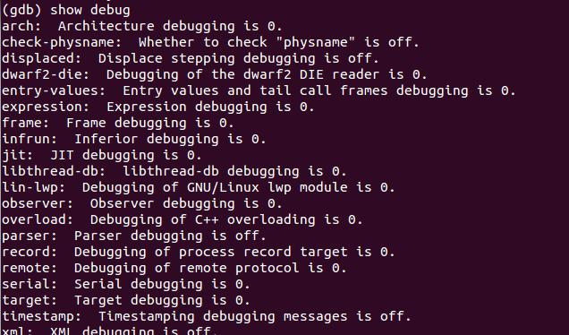 Debug the debugger set debug -- Generic