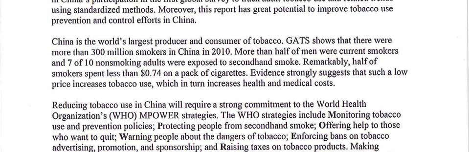 Global Adult Tobacco Survey