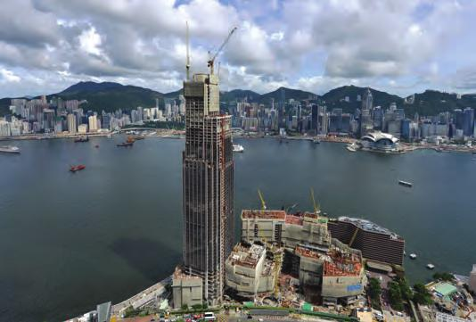 Figure 1. Overview of New World Centre - view from Kowloon side (Source: New World Development Company Limited) 图1.