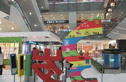 , the mall has international big name brands, including China s first duplex GAP flagship store, China s first three-layer ZARA flagship store and the largest NIKE flagship of Asia NIKE Beijing.