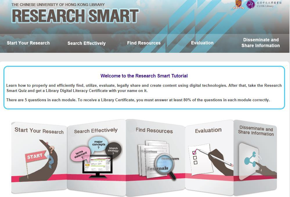 Major Online Resources -- Online Tutorials This is a guide to some of the most important electronic resources related to Basic Research Skills.