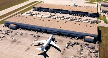 Through a network of on-tarmac properties, customers can utilize facilities