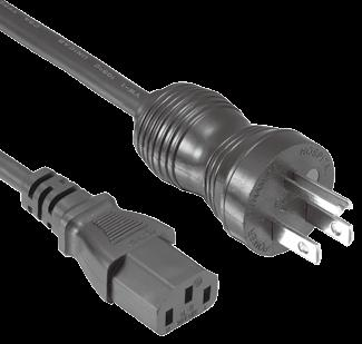 Available with Cords Approvals QP-051 IEC 60320 C20 SJT/SJTW 16AWG 3C 13A 125V