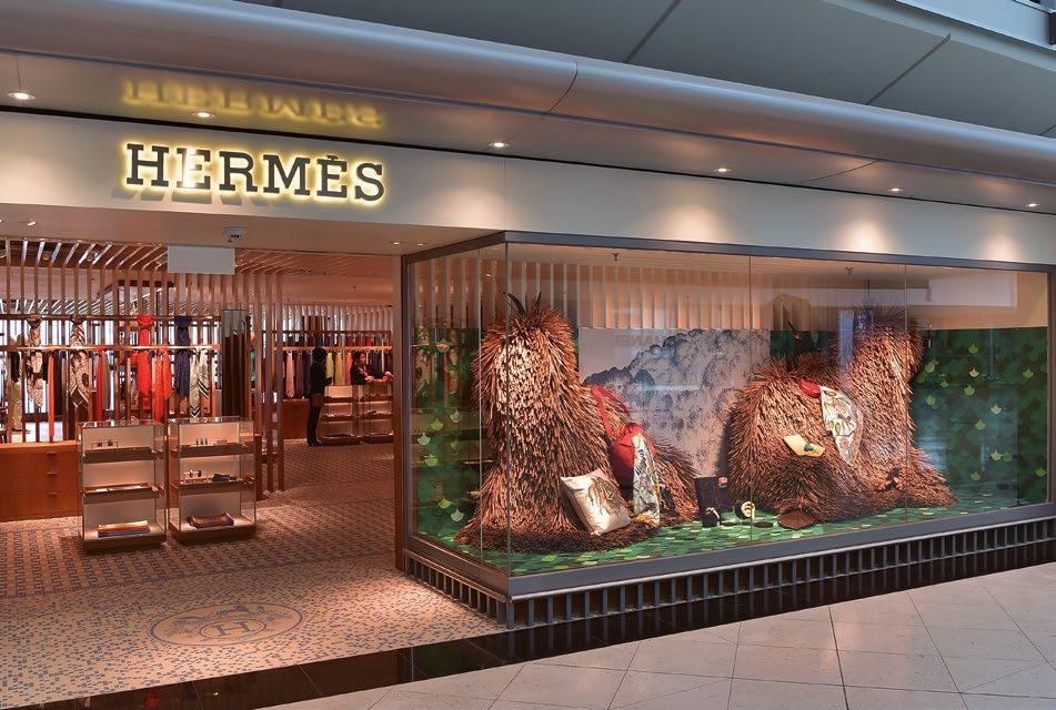 favourite material corrugated cardboard To celebrate the opening of the Hermès boutique at Hong Kong International Airport, the renowned fashion brand enlisted French artist Lilian Daubisse to create