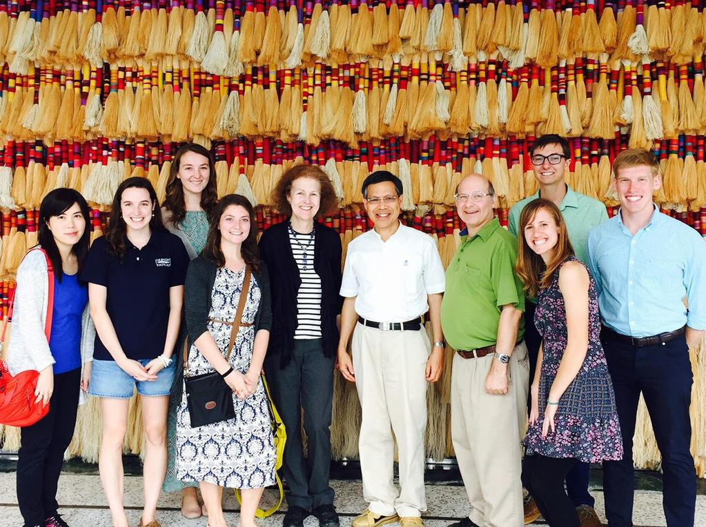 scholars and students with Christopher Marut, Director of AIT and Hsiao Yueh Chang,