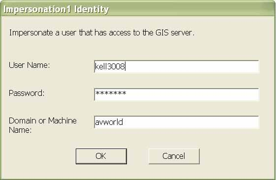 : Impersonation Web GIS server Win32