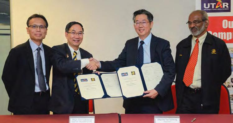 Collaborations UTAR and the Federation of Malaysian Manufacturers (FMM) Perak signed a memorandum of understanding (MoU) on 22 September 2016 at Kampar Campus.