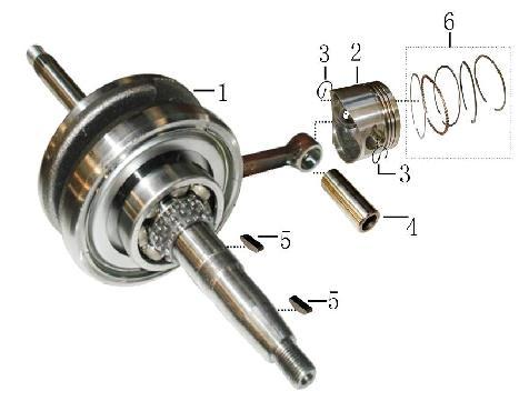 图 Kurbelwelle mit Kolben Draft Neue Alte 00-0 YYGY00 曲轴 Crankshaft & Connecting Rod Comp Kurbelwelle Z links und rechts 0,00 00-0 YYGY00 活塞 (d=.)(cc) (GY-) Piston, d=.