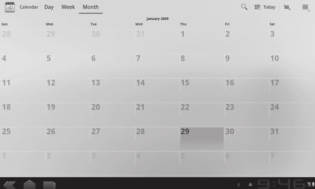 Utilities Calendar Calendar makes it easy to create and manage events, meetings and appointments.