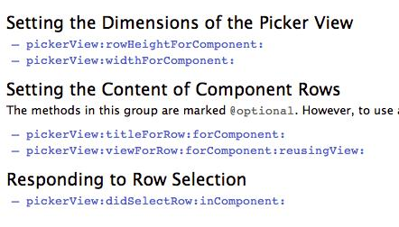UIPickerViewDelegate component pickerview(_ pickerview:, didselectrow:, incomponent:)