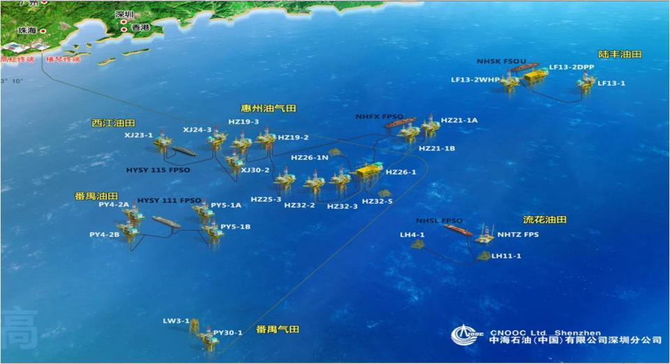 Development and Production Status The operation area of CCLS is Pearl River Mouth Basin which locate at northern continental margin of South China Sea.