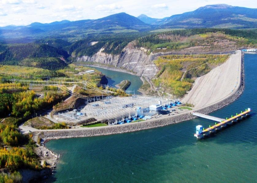 Transportation and Infrastructure 交通及基础设施 Electrical power WAC Bennett Dam Hydro Plant is on the Cinnabar Peak coal property.