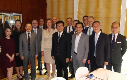 A roundtable discussion on Infrastructure was also held chaired by the RICS President together with Hong Kong industry leaders to discuss on futures and trends in infrastructure, sustainability,